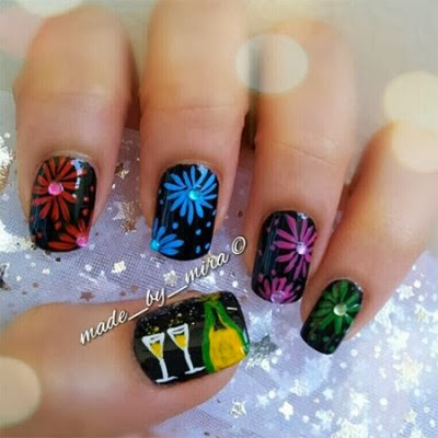 New Year Nail Art Ideas & Designs - Girl-Trends