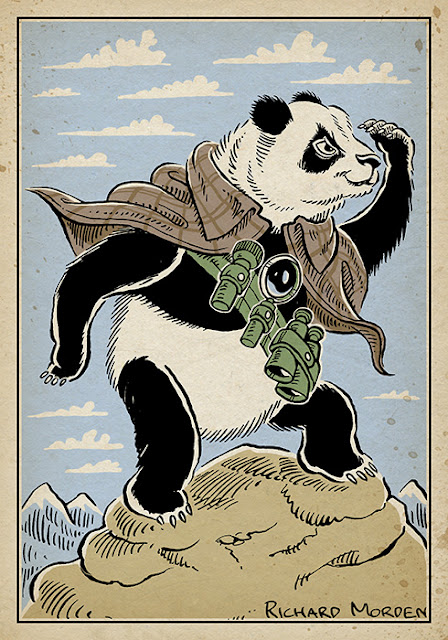 vigilant panda illustration