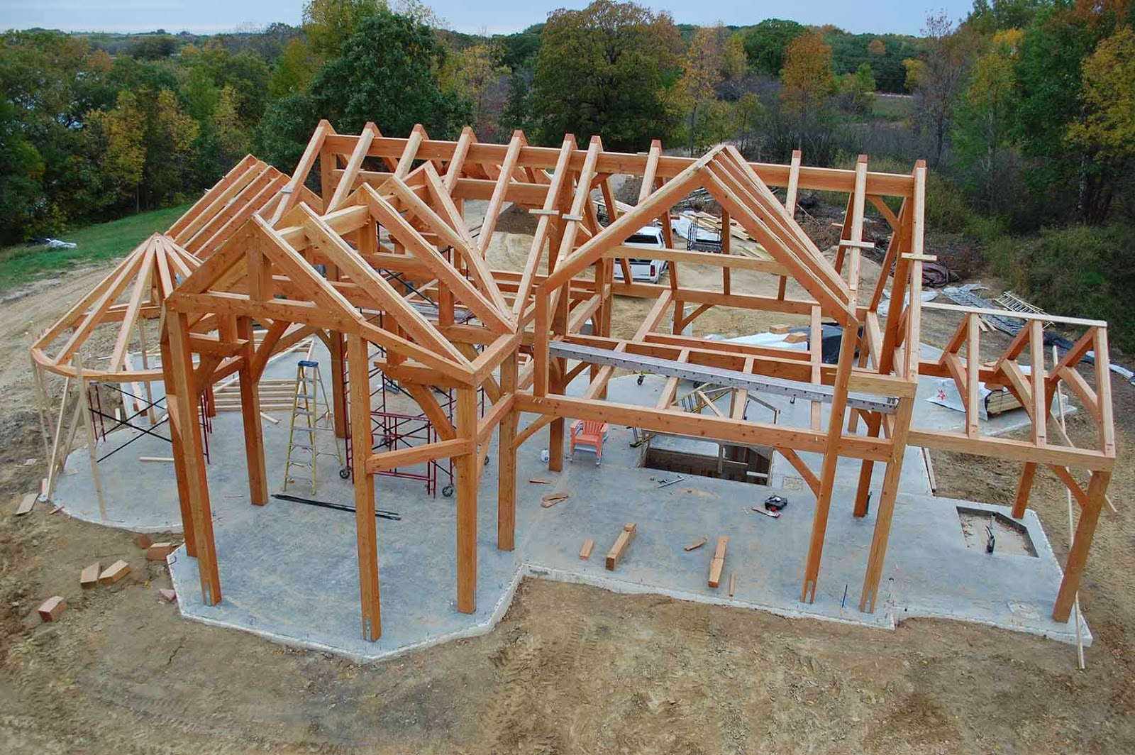 Lloyd s blog timber frame building near fargo north dakota A frame builders