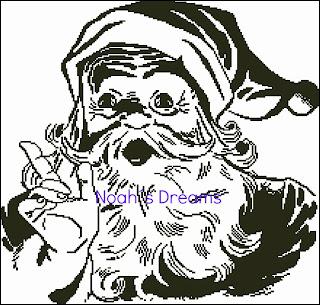 Ir a Papá Noel a Punto de Cruz