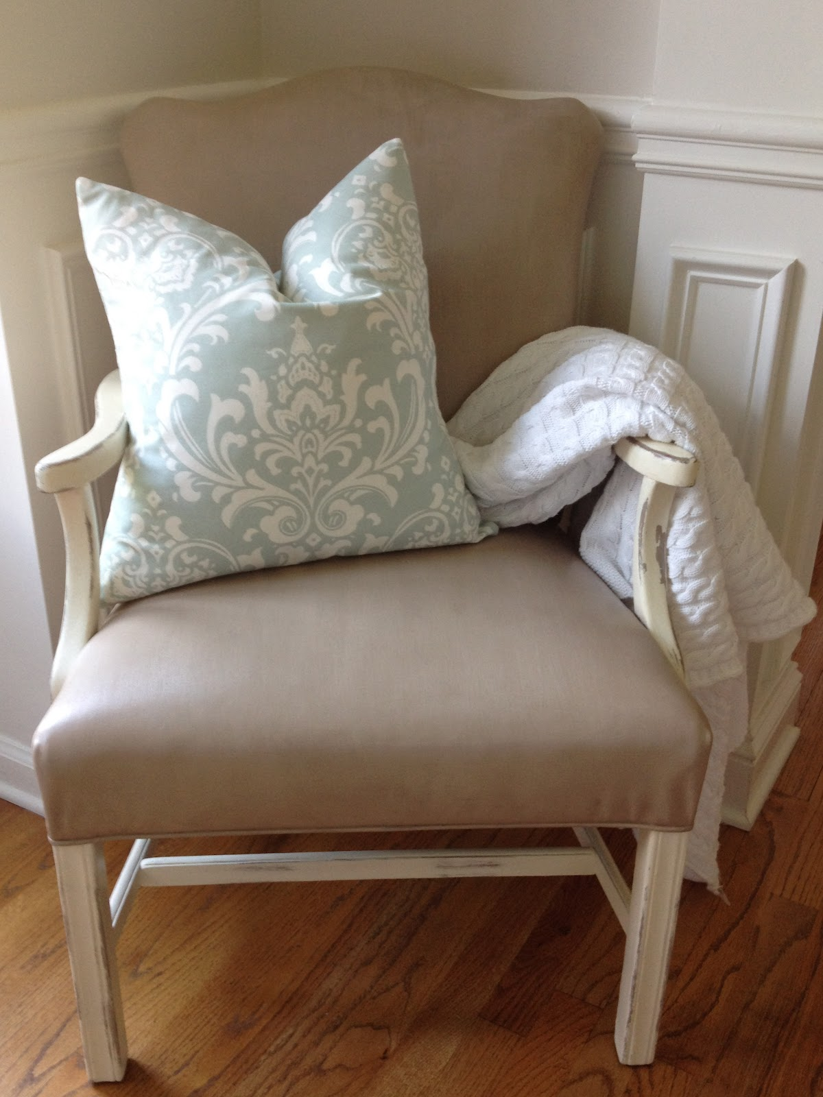 Weathered Pieces Fabric Painted Chair