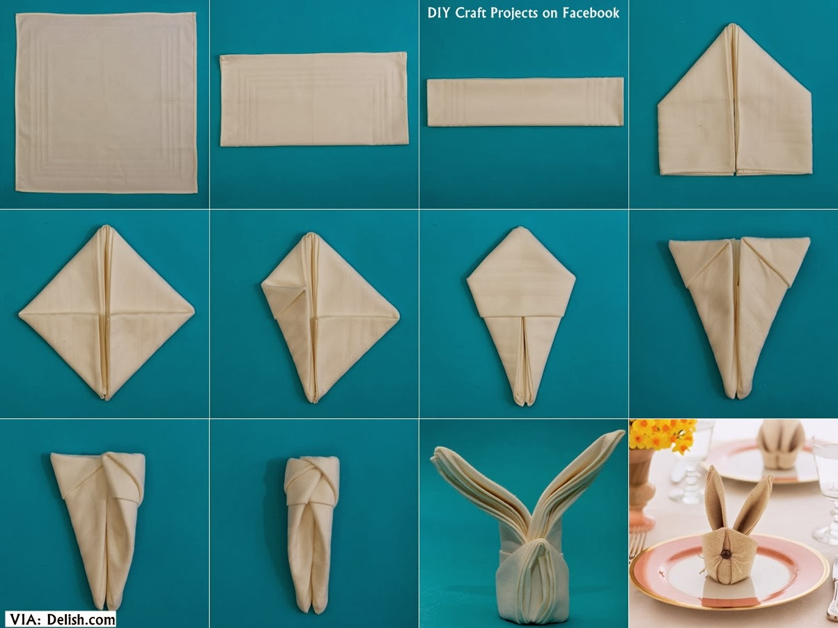 Make Bunny Napkins