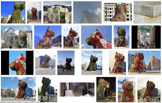 Captura de pantalla de imágenes de Pupy, el perro del Guggenheim de Bilbao