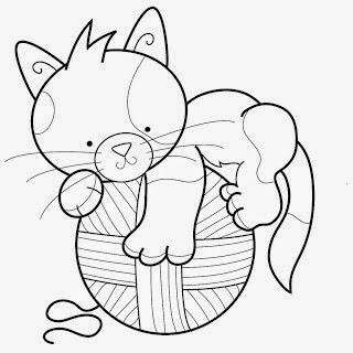 imagens para colorir gato - Desenhos de ANIMAIS DE ESTIMAÇÃO para colorir