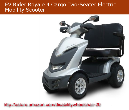 Disability Wheelchair, Mobility Scooters: EV Rider Royale 4 Cargo Two-Seater Electric Mobility Scooter