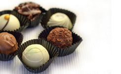 living without chocolate morsels truffles