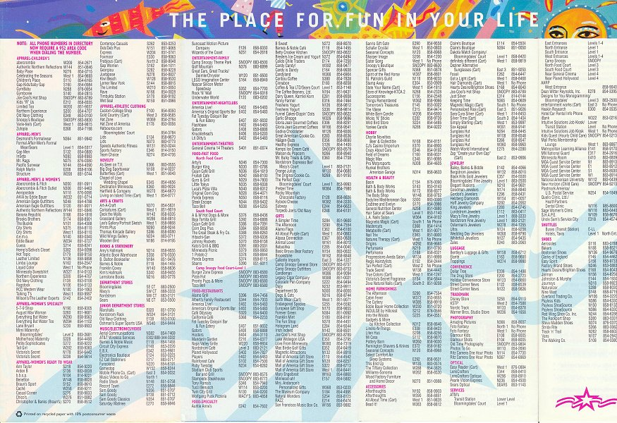 Mall Of America Store Directory Other Dressesdressesss: Mall Of America Stores Map At Slyspyder.com
