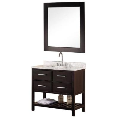home depot 39 s mission vanity in espresso includes mirror 1 098
