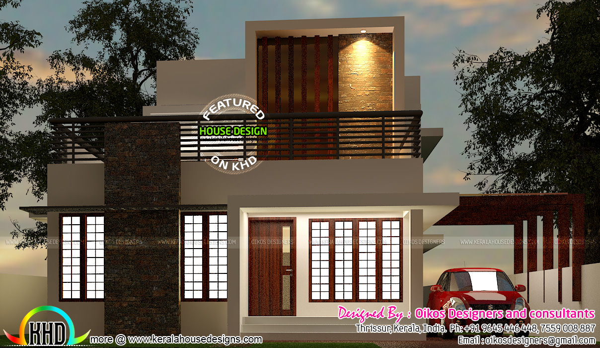 House Front Wall Elevation : Budget house with simple and elegant contemporary design