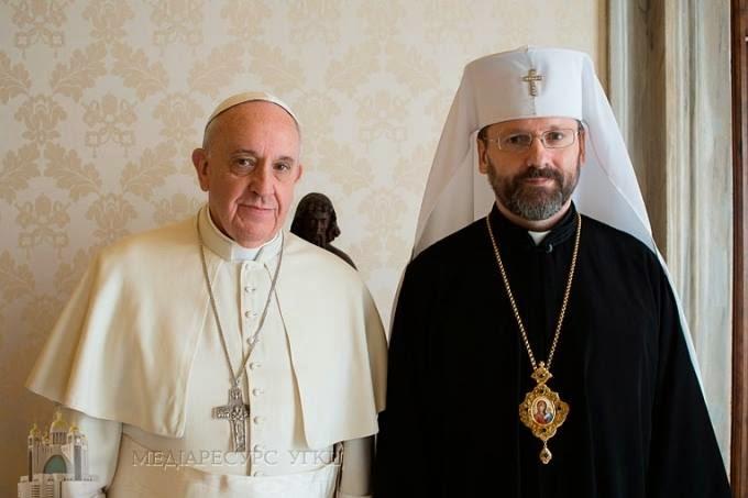 El Papa Francisco con nuestro Patriarca Sviatoslav Shevchuk