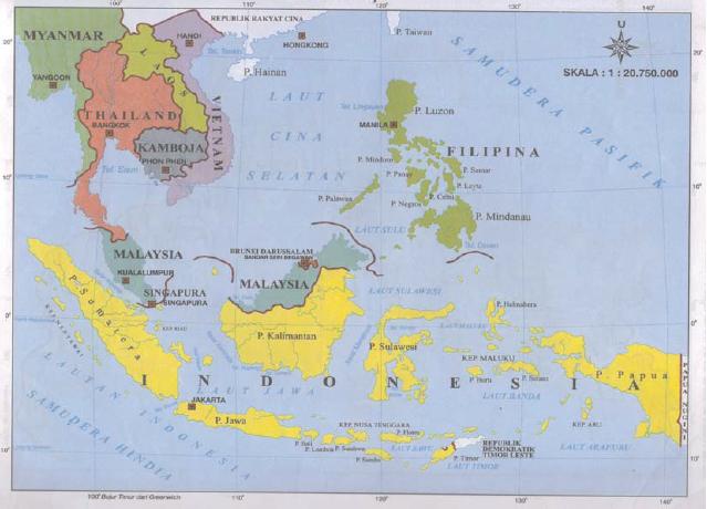 Letak Astronomis Indonesia Peta