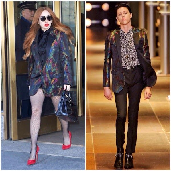Lady Gaga in Saint Laurent - New York Street Style
