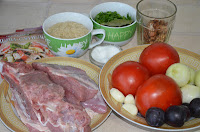 Продукты для супа харчо