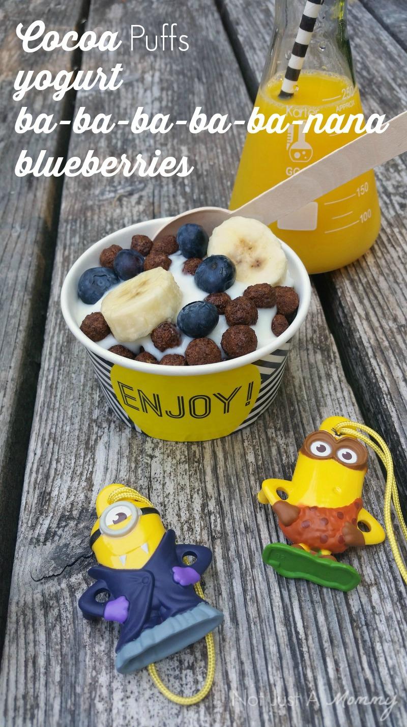 Minions Cereal Parfait Bar; Cocoa Puffs parfait