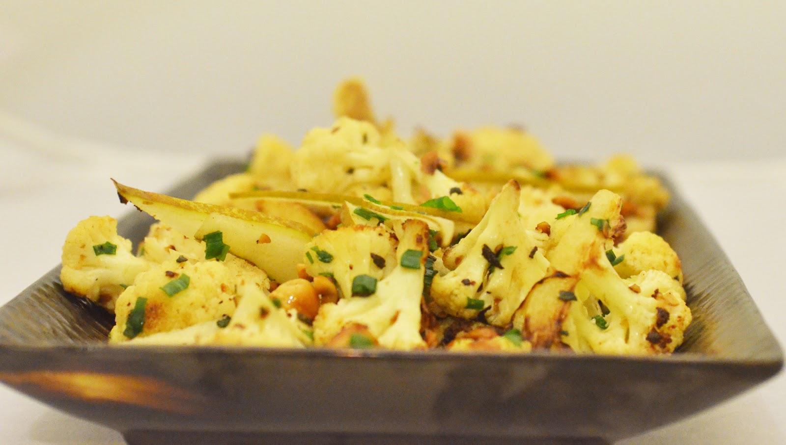 ... Blue Kitchen: Cauliflower with Brown Butter, Pears, Sage & Hazelnuts