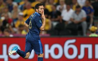 أهداف مباراة فرنسا واوكرانيا 2-0 في بطولة اليورو 15-6-2012