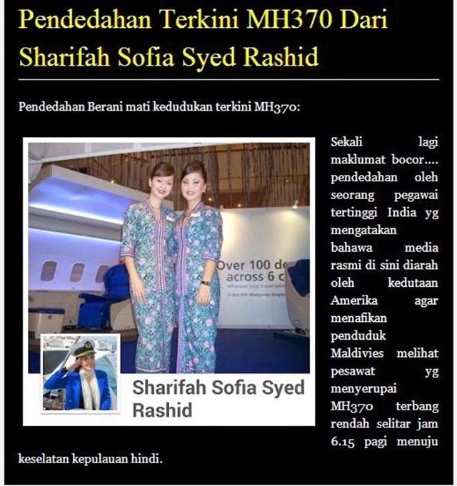 Akhirnya Pemilik FB Sharifah Sofia Syed Rashid Diburu SKMM!