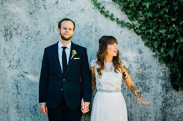Real Bride Cat in Sarah Seven gown La Vie for her Seattle Warehouse wedding featured on Green Wedding Shoes // photography by Mary Kalhor