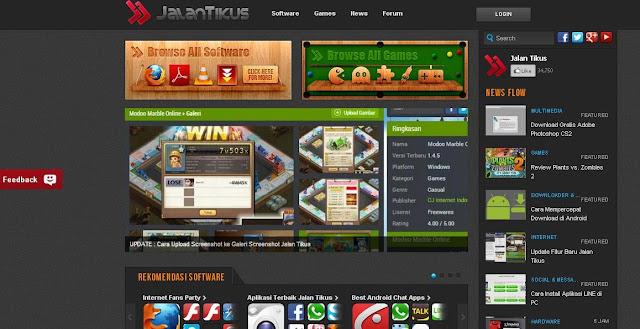 Screenshot situs Jalantikus.com