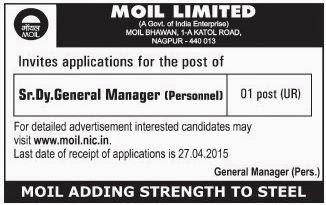 MOIL Ltd Recruitments (www.tngovernmentjobs.in)