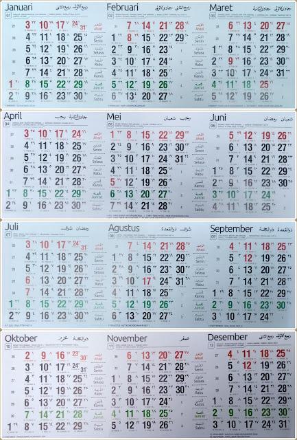 Kalender Indonesia 2016