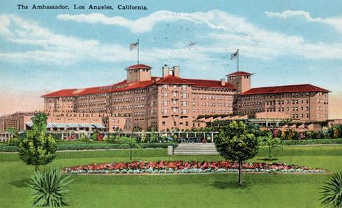 ambassador hotel los angeles postcard