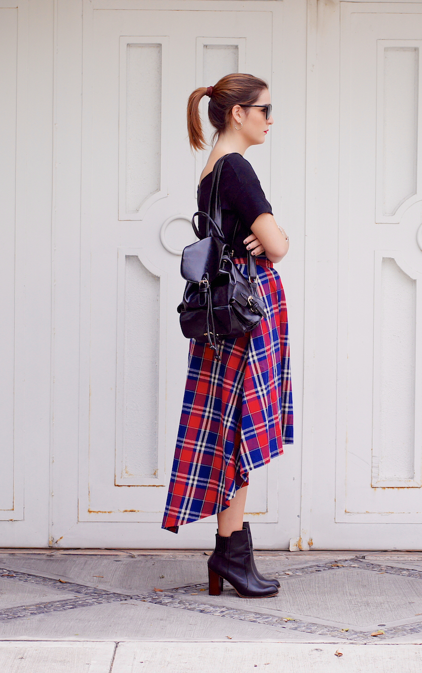 tartan skirt trend fall winter outfit street style