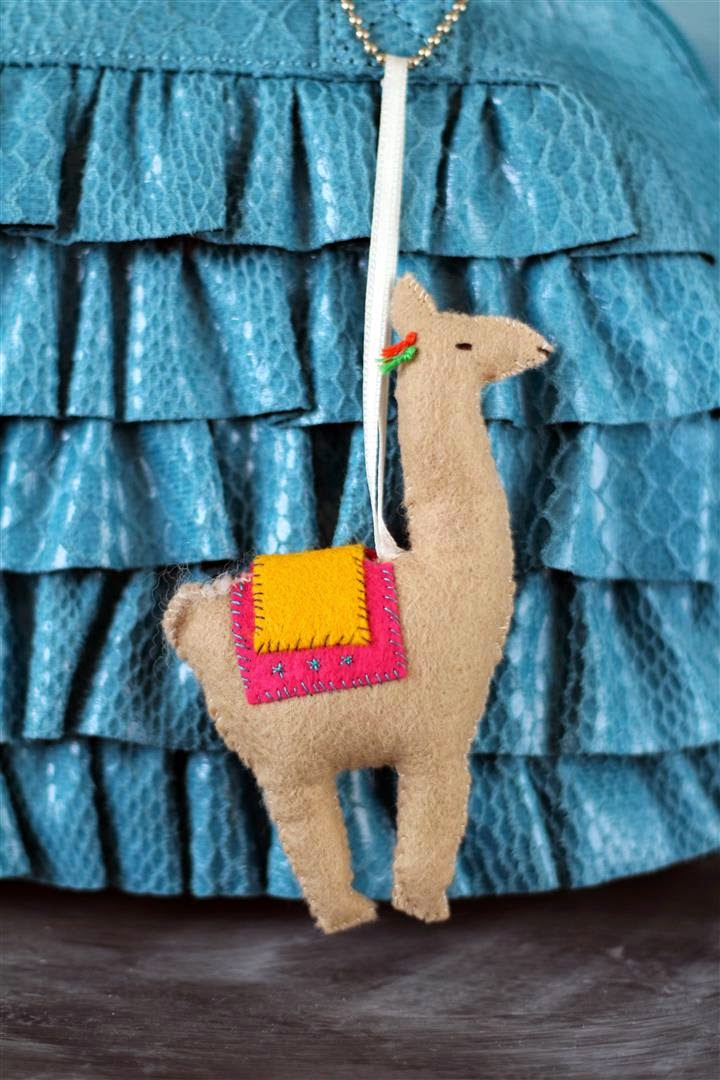 felt lama decoration