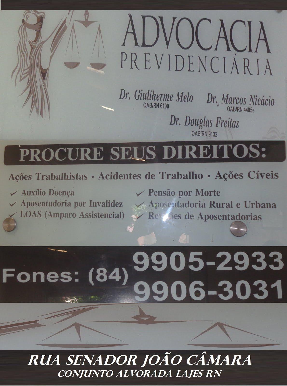 ADVOGADO DR MARCOS NICÁCIO LAJES RN