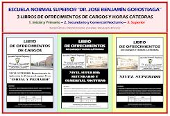 PROXIMAMENTE LIBROS DE OFRECIMIENTOS DE CARGOS Y HORAS CÁTEDRAS