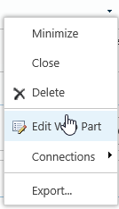 SharePoint edit web part