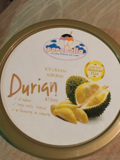 ais krim coklat, ais krim durian