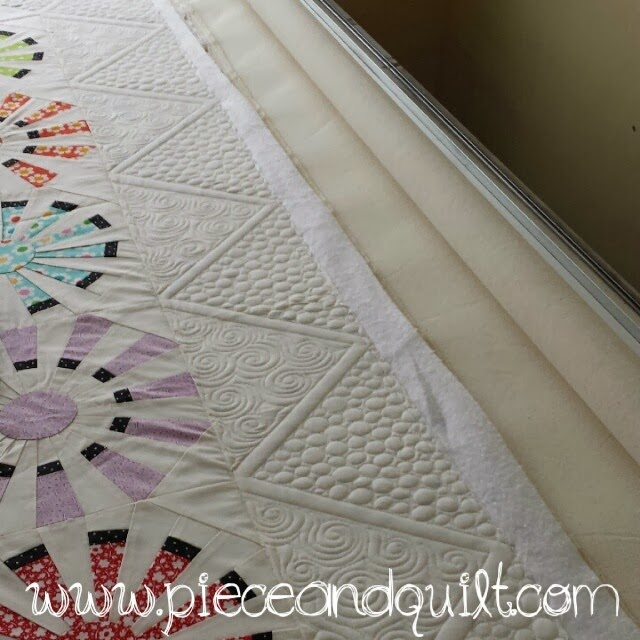 Ideas For Quilting Borders : Piece N Quilt: How to: Machine Quilt a Modern Triangle Border