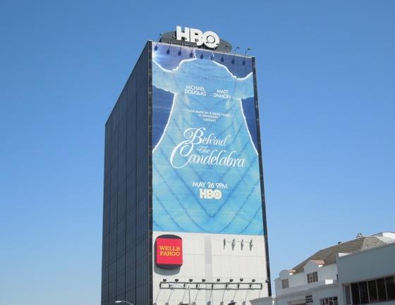 Behind Candelabra billboard