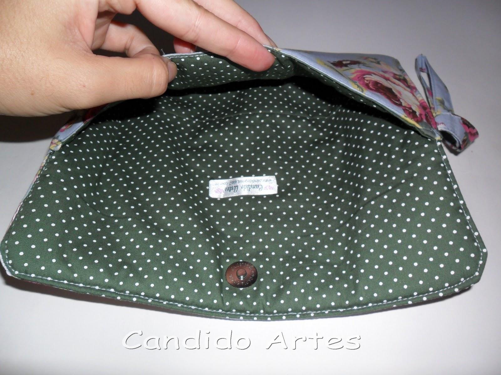 Bolsa De Tecido Com Renda : Artesanato candido artes bolsa de m?o carteira tecido