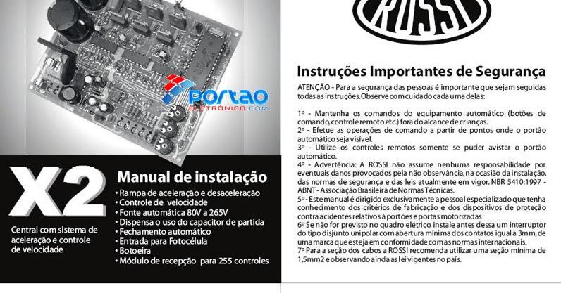 manual dz4 rossi pdf