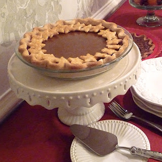 Pie on a Cake Pedestal