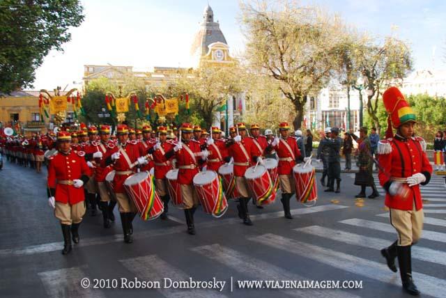 desfile guarda boliviana