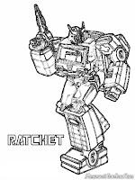 Gambar Ratchet Robot Transformer Untuk Diwarnai