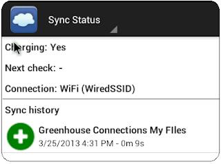 FolderSync sync status