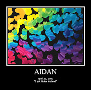Aidan in a Rainbow