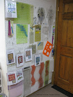 DIY peg board wall for patterns, templates and rulers in my studio