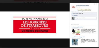 Nouvel Observateur, journées de Strasbourg, timeline, Facebook, page