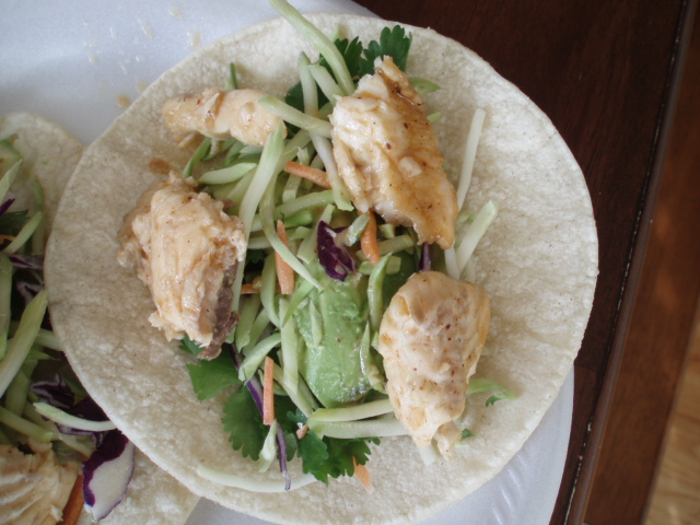 The Culinary Queen: Grilled Fish Tacos w/ Chipotle-Lime Dressing