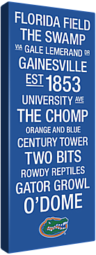 Florida Gators NCAA College Town Wall Art