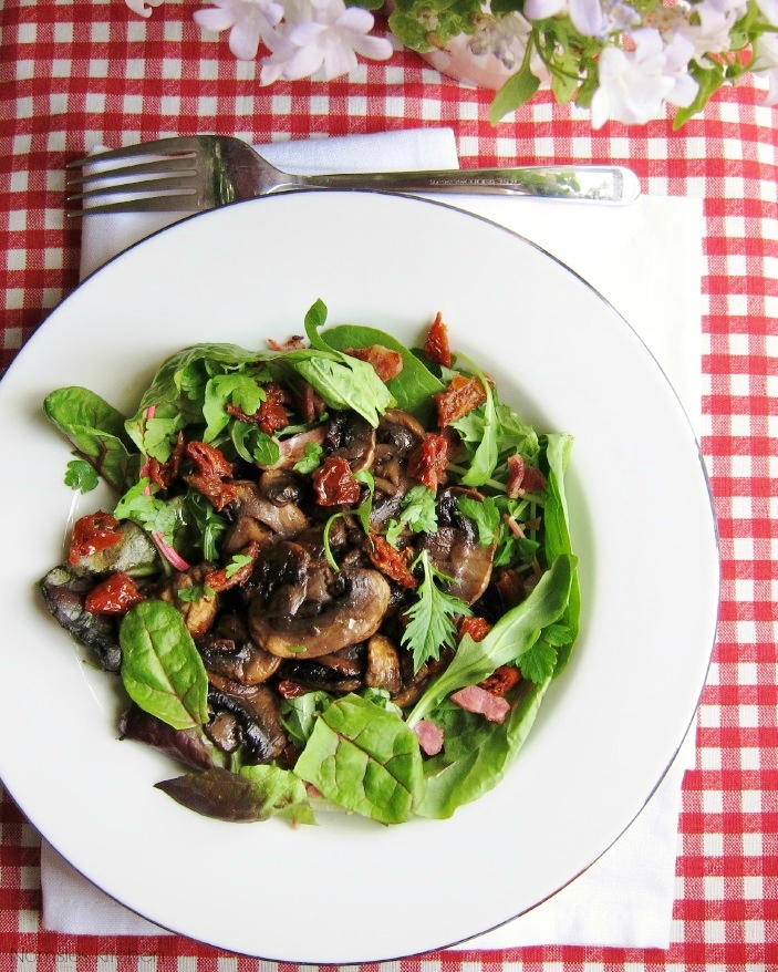 Mushroom Salad Recipe | Nomsies Kitchen