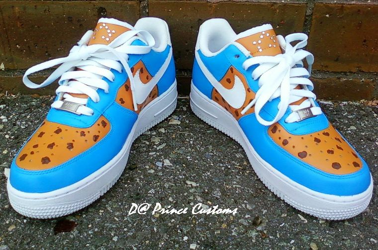 Cookie Monster Nike Air Force Ones Shoes Cool  df3114569441