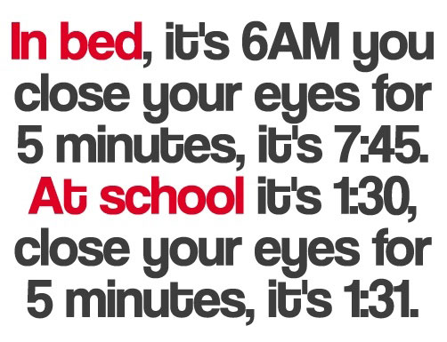 The Way Time Works - In Bed vs. At School
