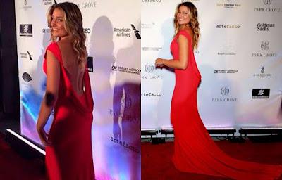 estilo sasha meneghel vestido vermelho longo dress