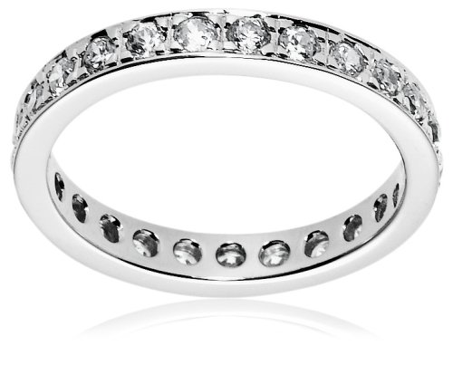 sterling silver cubic zirconia eternity ring houston cheap